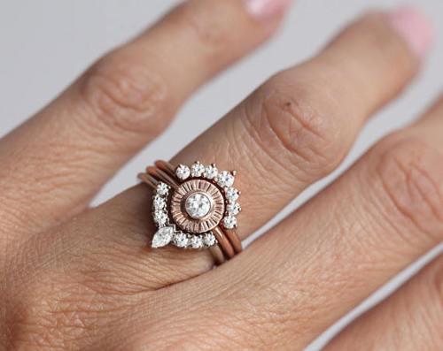 diamond sun engagement ring etsy