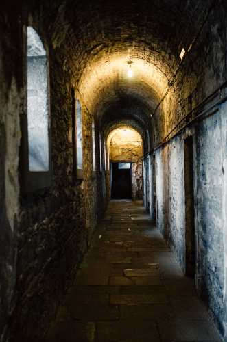 hallway inside of notorious ireland jail kilmainham