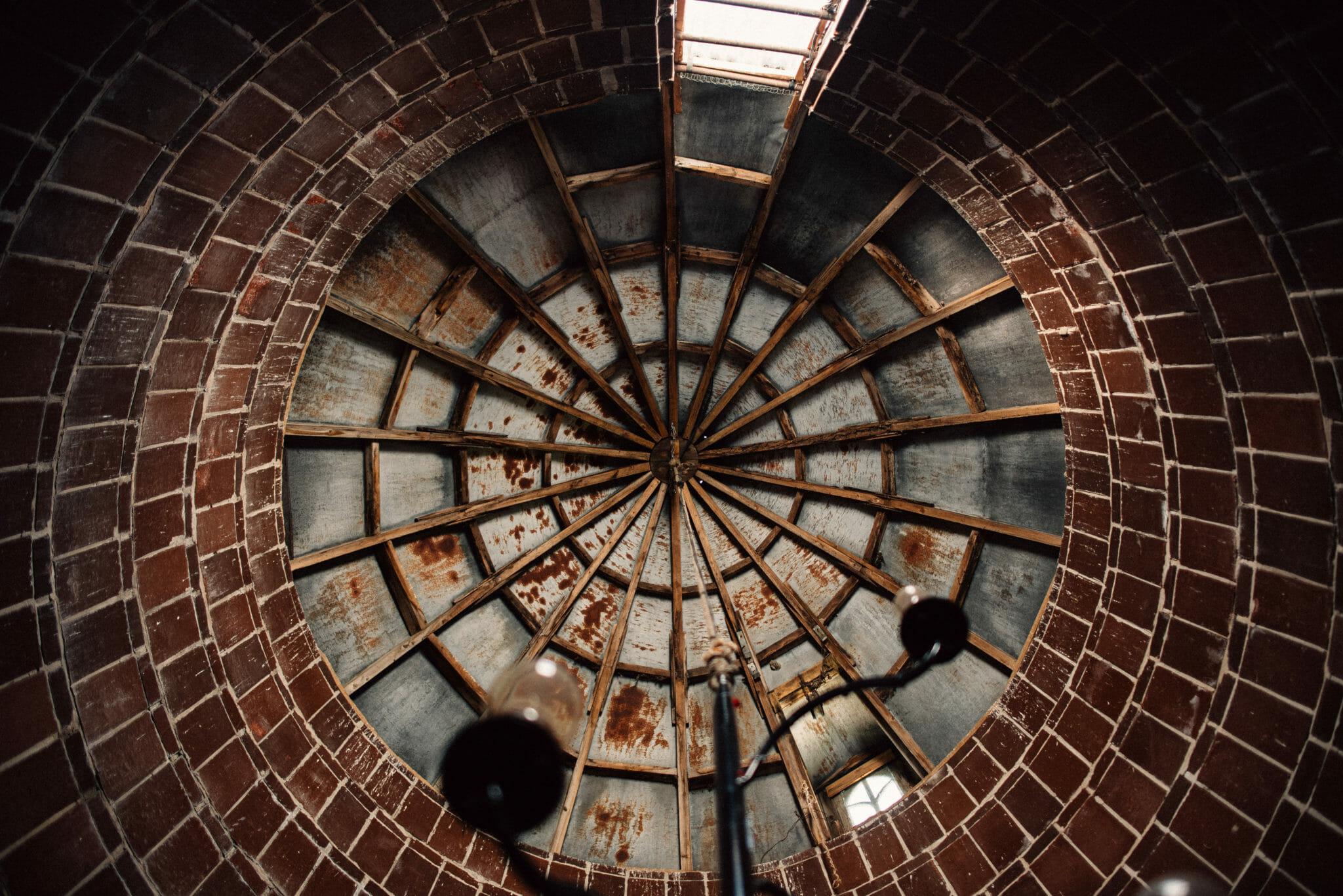 rooftop of rustic silo at ontario wedding venues