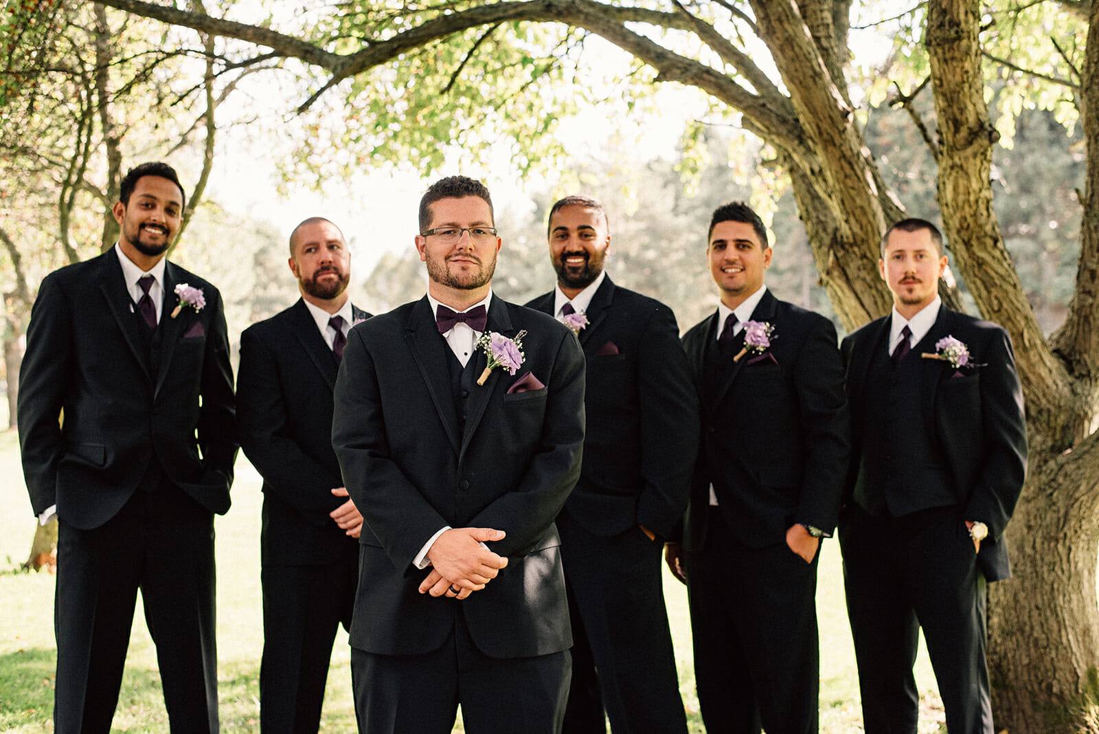 groomsmen photos at oshawa golf course