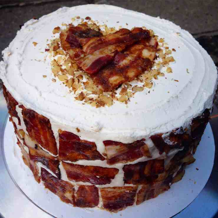 The Maple Bacon Breakfast Birthday Cake Chelsweets