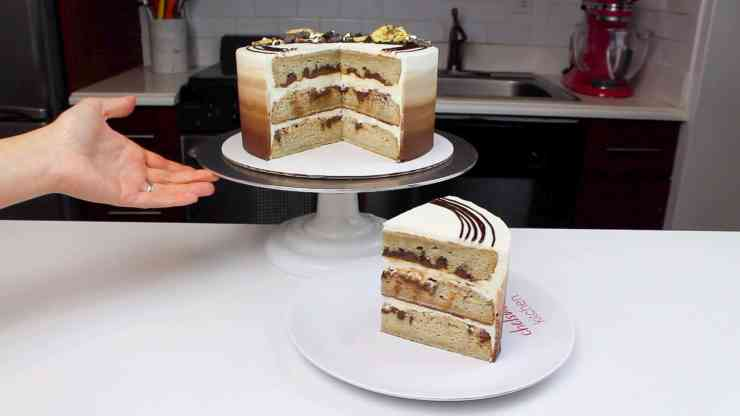 cut cake nutella swirled banana cake