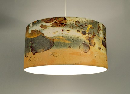 rusty image *more light* lamp shade by artist Resurface