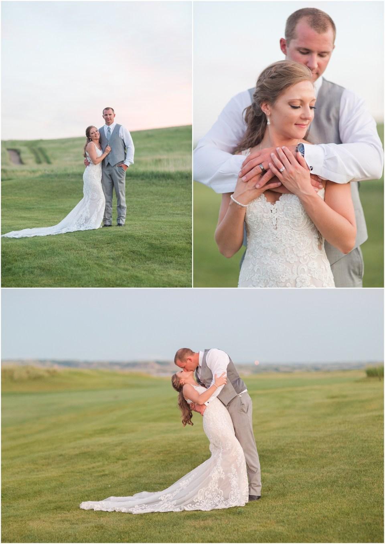 sunflower and navy wedding the links golf course north dakota