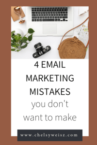 email marketing mistakes you don't want to make