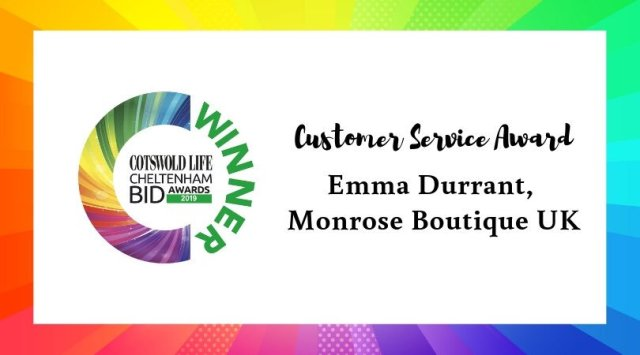 #CLCheltBIDawards Winner of Customer Service Award - Emma Durrant, Monrose Boutique UK