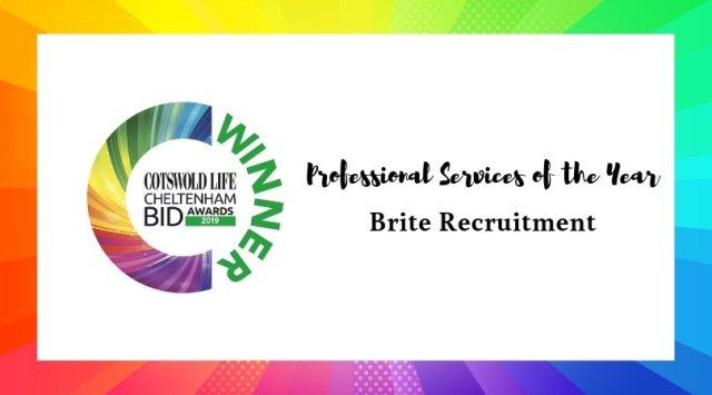 #CLCheltBIDawards Winner of Professional Services of the Year - Brite Recruitment