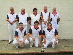 Back row (l-r): John Doody, Bill Notman, Guy Harper, Malcolm Panter & David Heath Front row (l-r): Mark Perry, Alex White & Nigel Adams