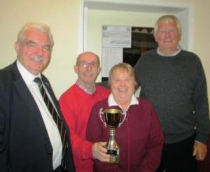 Evening League winners - Carolie Brookes, Malcolm Panter & Kevin Costello