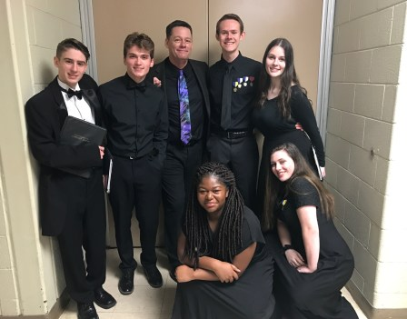 Mikayla Stone, Dr. Paul Head, and Region Chorus friends