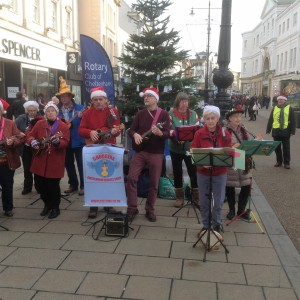 Outside M&S for the Rotary Club 9th December 2016