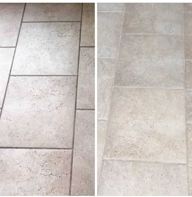 stone tile and grout cleaning in