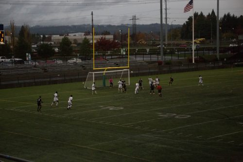 The Chemeketa Storm Men's Soccer team competes against rival Portland Community College