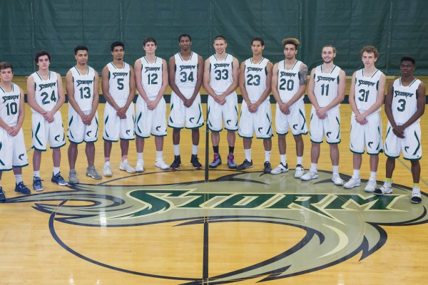 Photo of the Chemeketa men's basketball team.