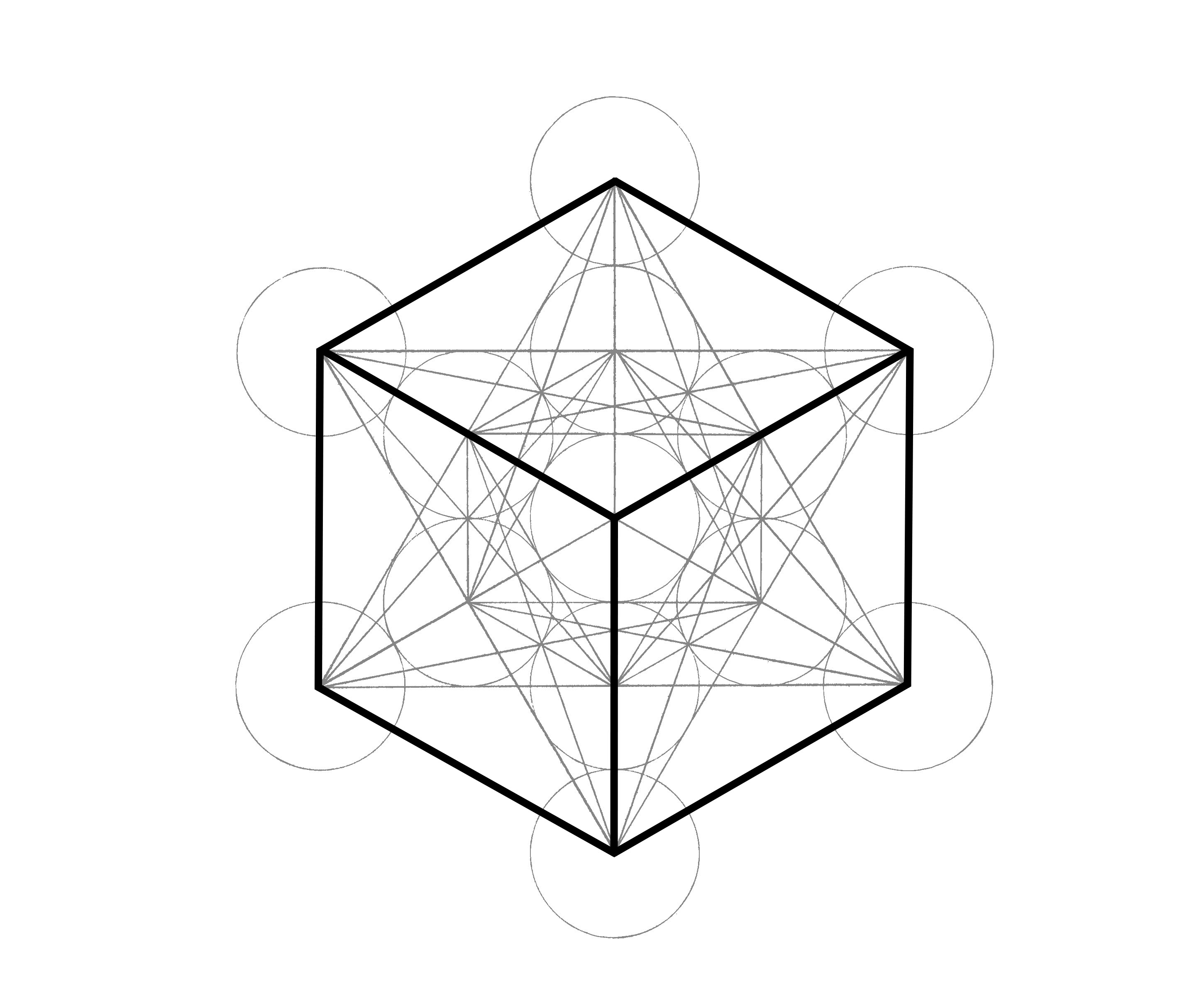Metatron S Cube How To Draw It The Chemical Marriage