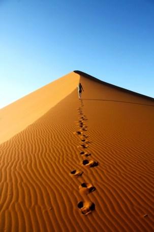 La marche dans le désert 1