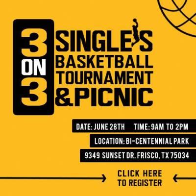 basketball tournament marketing graphic
