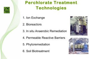 Perchlorate Treatment Technologies