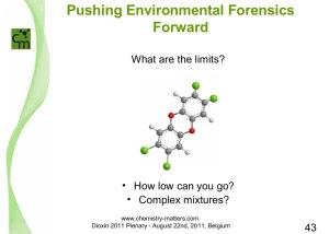Pushing Environmental Forensics Forward