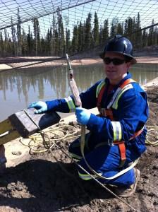 Sampling Water Fracking Pond