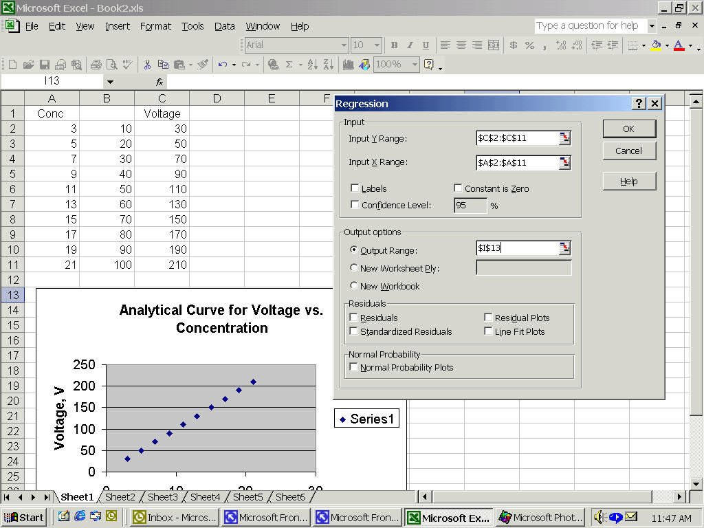 General Directions For Spreadsheet Use In Experimental