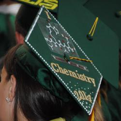 Photo - Graduate with Decorated Chemistry-themed Mortarboard