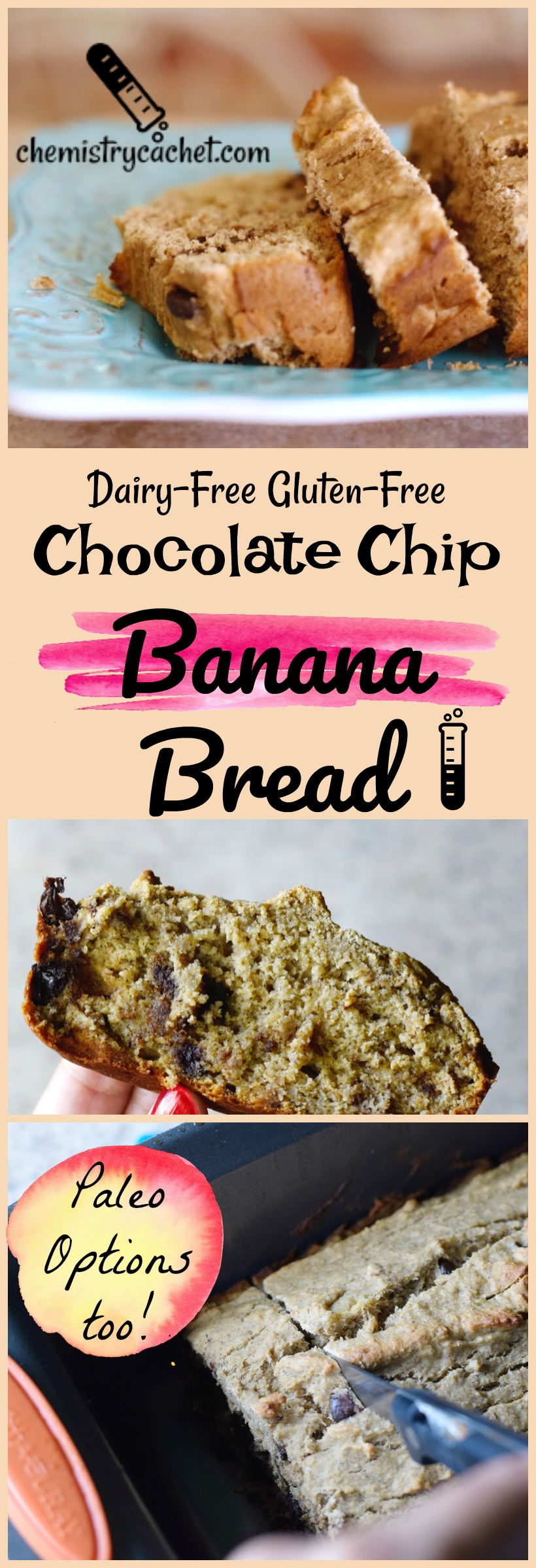 Dairy Free Gluten Free Chocolate Chip Banana Bread