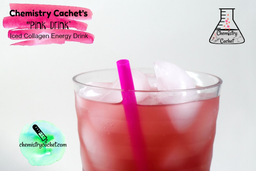 Chemistry Cachet's Pink Drink an iced collagen drink for energy, digestion, and more