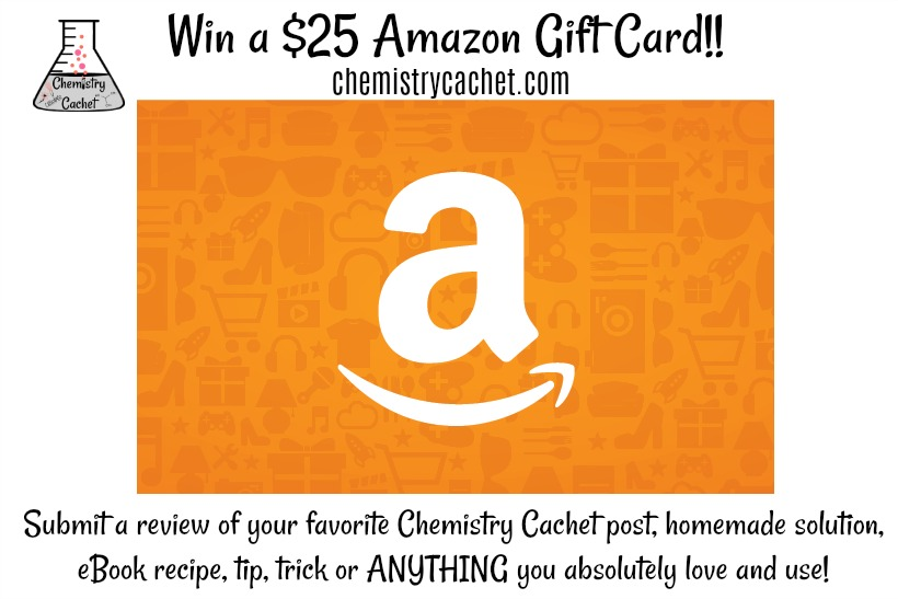 Win a $25 Amazon Gift Card with just ONE review from chemistrycachet.com