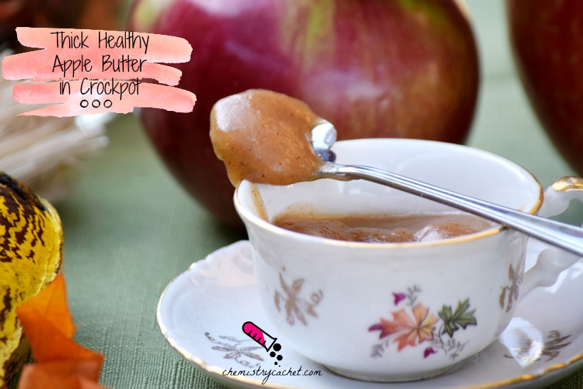 Thick Healthy Apple Butter in Crockpot