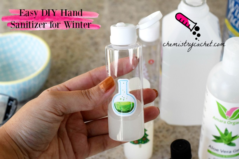 Easy DIY Hand Sanitizer for Winter (Great Christmas Gift Idea!)