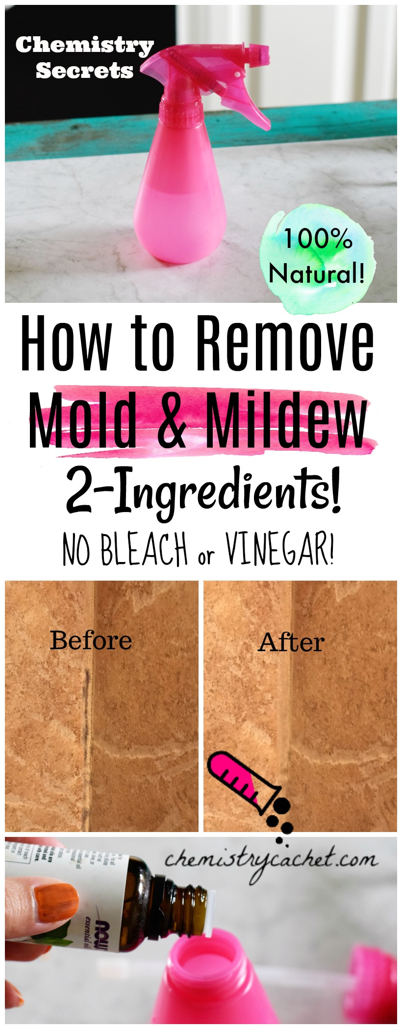 the best way to remove mold mildew with 2 ingredients no bleach. Black Bedroom Furniture Sets. Home Design Ideas