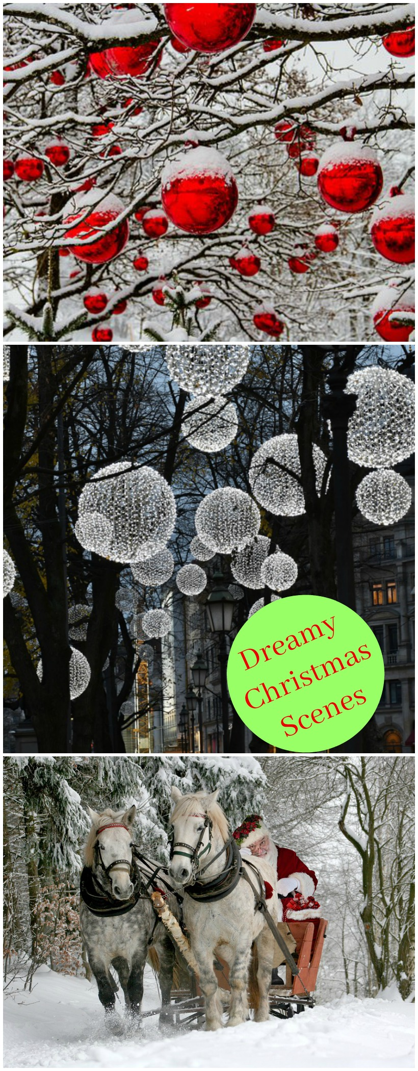Peaceful, beautiful dreamy christmas scenes to get you in the Christmas spirit! on chemistrycachet.com