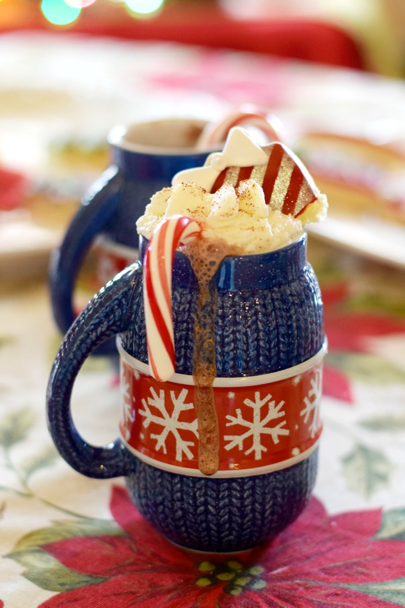 Easy Christmas hot chocolate bar with dairy-free hot chocolate on chemistrycachet.com