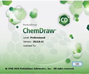 PerkinElmer ChemOffice - Version 20.0