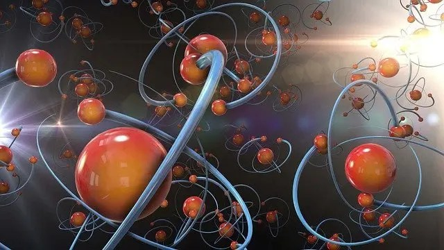 Stylised image of atoms