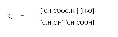 expression for the equilibrium constant Kc