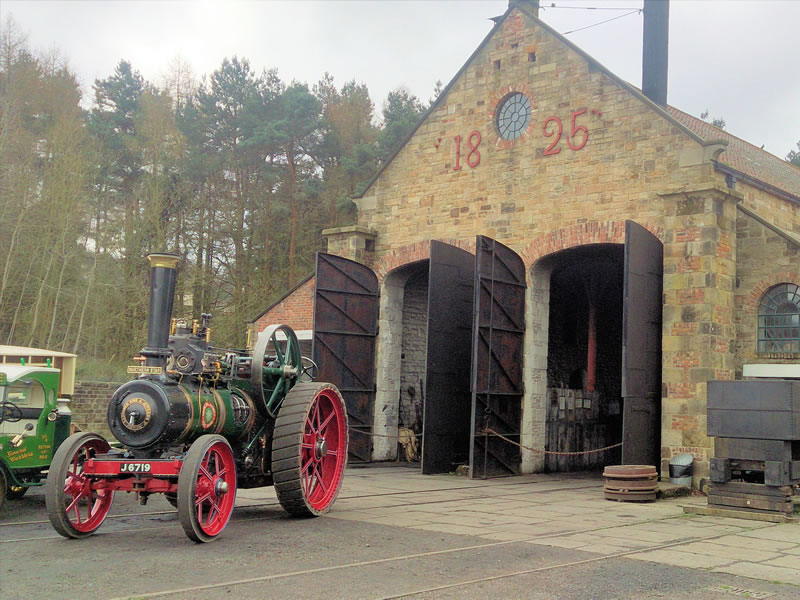 A steam engine at the Beamish Museum