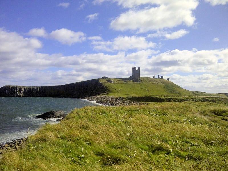 The ruins of Dunstanburgh castle