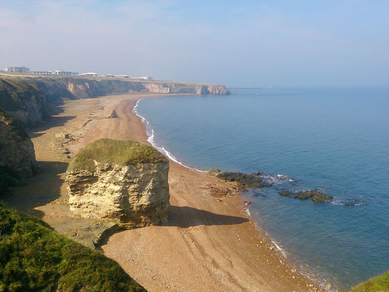 Another view of Seaham's blast beach