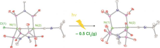 Photohalogen elimination chemistry in low-valent binuclear nickel complexes