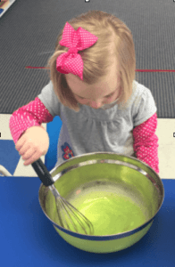 Whisking green eggs