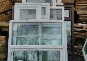 Waste PVC windows
