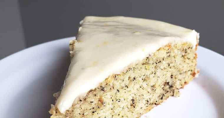 Lavender Earl Grey Cake with Honey-Lemon Glaze