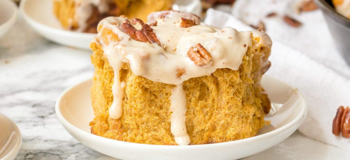 Pumpkin Pecan Cinnamon Roll Recipe