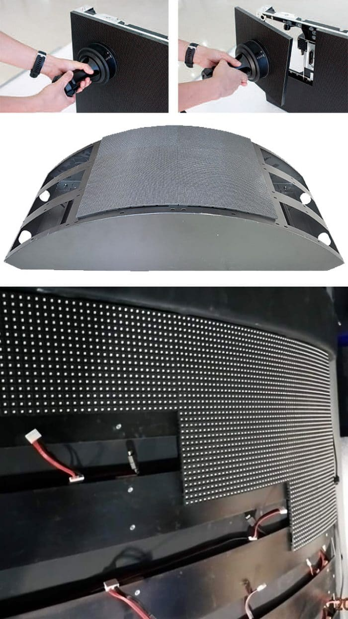 Irregular shaped LED displays