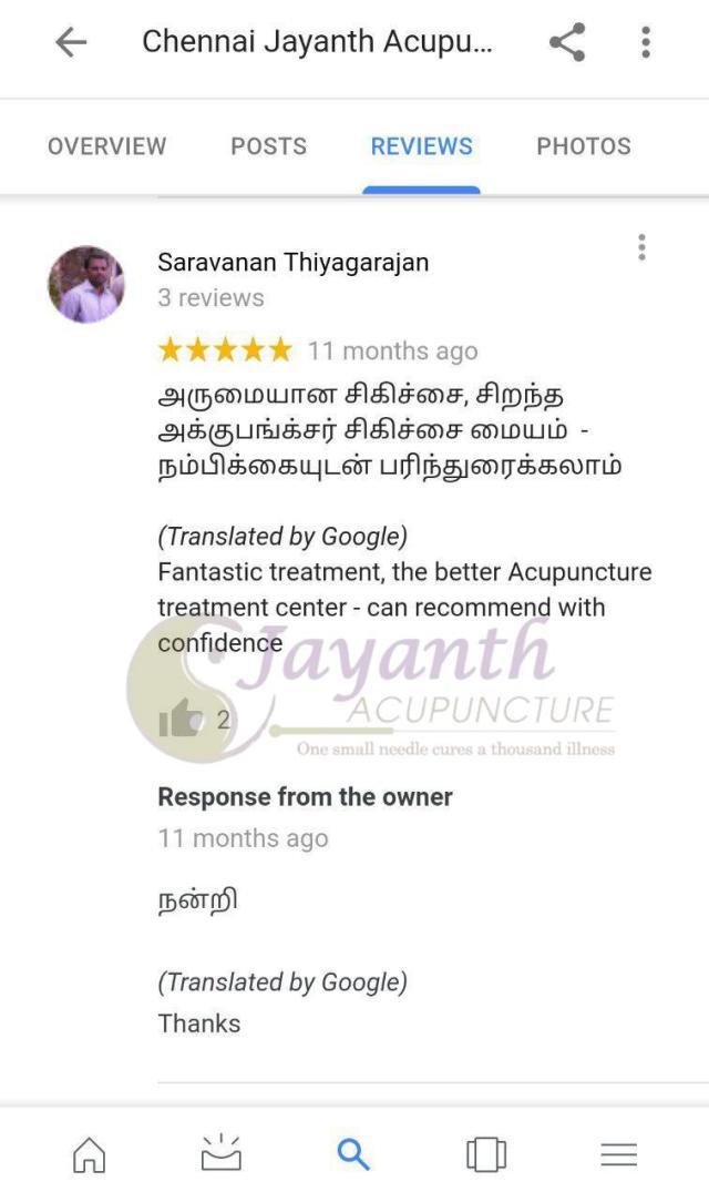 Best Acupuncture Treatment Center in Chennai