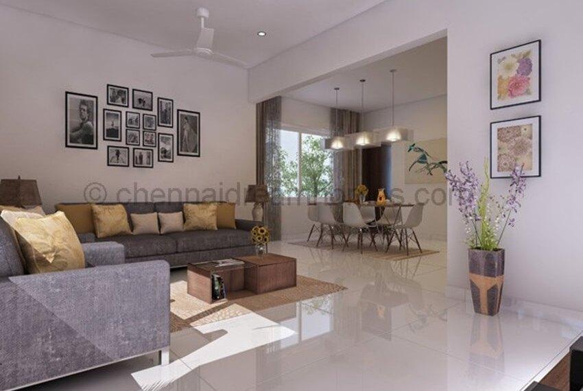 Model-villa-living-view