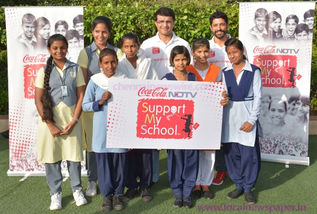 Sourav Ganguly joins 'Support My School' Campaign