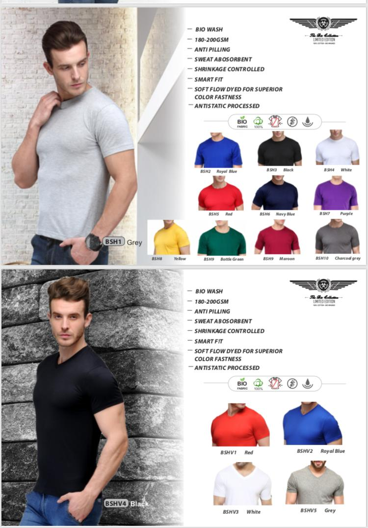 BIO WASH ROUND COLLAR AND V NECK